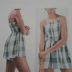 Topshop Plaid Strappy Romper